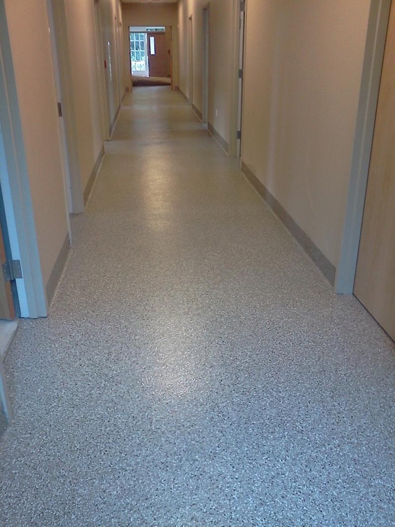 Gravel Flake Epoxy Floor Prep Crete Floor Contractors