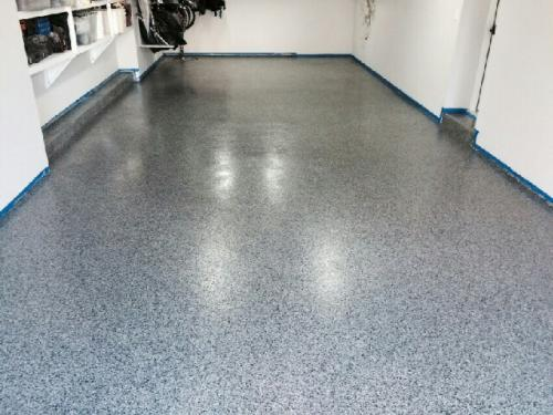 Gravel Flake Epoxy Floor Prep Crete Floor Contractors